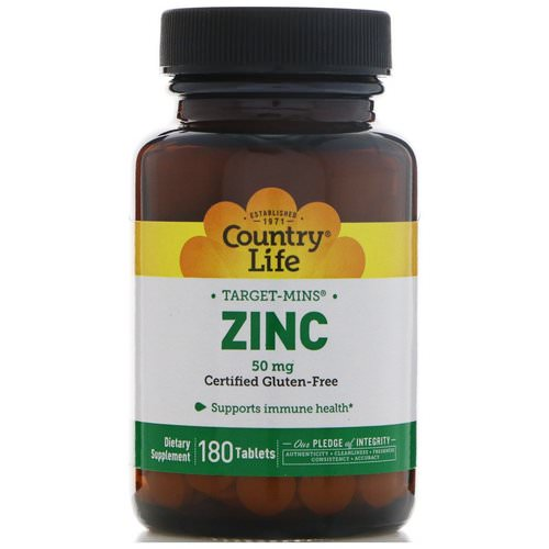 Country Life, Zinc, 50 mg, 180 Tablets Review