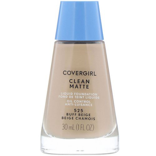 Covergirl, Clean Matte Liquid Foundation, 525 Buff Beige, 1 fl oz (30 ml) Review