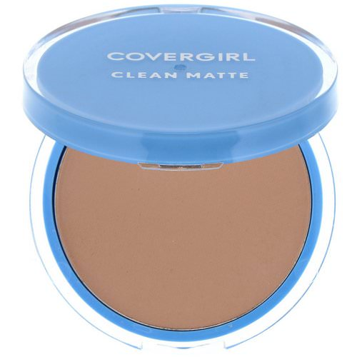Covergirl, Clean Matte, Pressed Powder, 535 Medium Light, .35 oz (10 g) Review