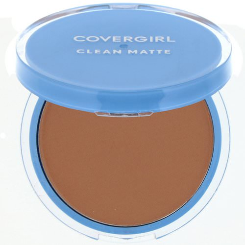 Covergirl, Clean Matte, Pressed Powder, 555 Soft Honey, .35 oz (10 g) Review