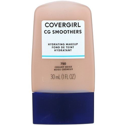 Covergirl, Smoothers, Hydrating Makeup, 750 Creamy Beige, 1 fl oz (30 ml) Review