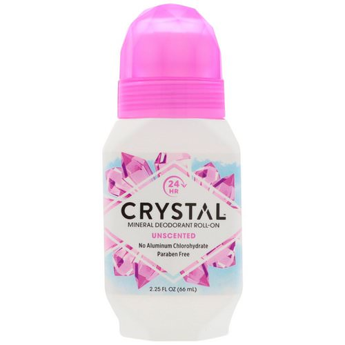 Crystal Body Deodorant, Mineral Deodorant Roll-On, Unscented, 2.25 fl oz (66 ml) Review