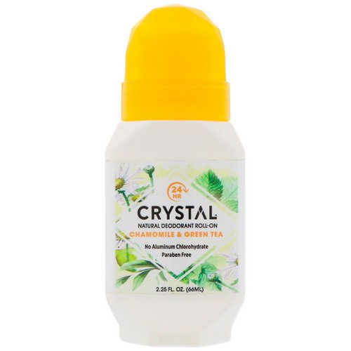 Crystal Body Deodorant, Natural Deodorant Roll On, Chamomile & Green Tea, 2.25 fl oz (66 ml) Review