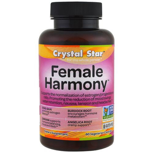 Crystal Star, Female Harmony, 60 Veggie Caps Review