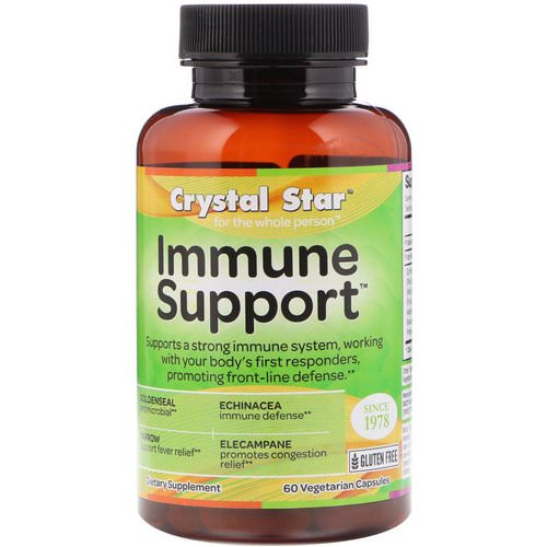 Crystal Star, Immune Support, 60 Veggie Capsules Review