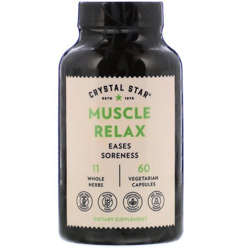 Crystal Star, Muscle Relax, 60 Vegetarian Capsules Review