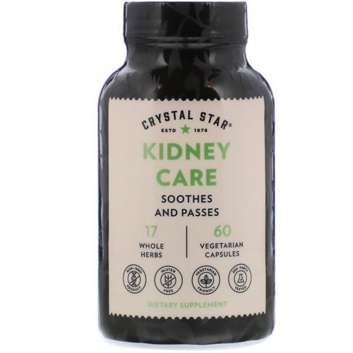 Crystal Star, Kidney Care, 60 Vegetarian Capsules Review