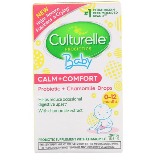 Culturelle, Probiotics, Baby, Calm + Comfort, Probiotic + Chamomile Drops, 0-12 Months, .29 fl oz (8.5 ml) Review