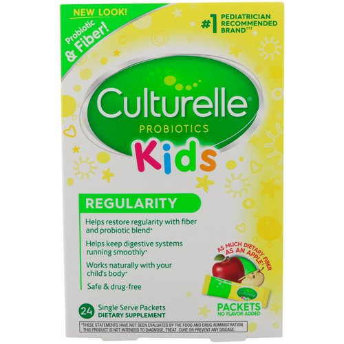 Culturelle, Probiotics, Kids, Regularity, 24 Single Serve Packets Review
