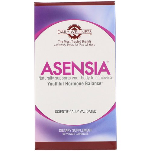 Daily Wellness Company, Asensia, Youthful Hormone Balance, 90 Veggie Capsules Review