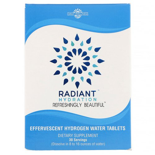 Daily Wellness Company, Radiant Hydration, 30 Effervesecent Hydrogen Water Tablets Review