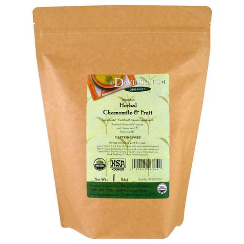 Davidson's Tea, Organic, Herbal Chamomile & Fruit Tea, Caffeine-Free, 1 lb Review