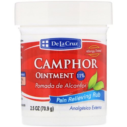De La Cruz, Camphor Ointment, Pain Relieving Rub, 2.5 oz (70.9 g) Review
