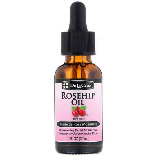 De La Cruz, Rosehip Oil, Rejuvenating Facial Moisturizer, 1 fl oz (30 ml) Review