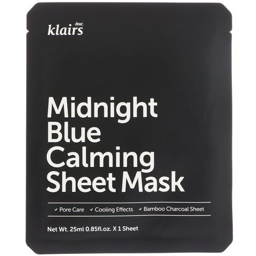 Dear, Klairs, Midnight Blue Calming Sheet Mask, 1 Mask, 0.85 fl oz (25 ml) Review