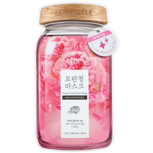Dear Packer, Peony Honey Sheet Mask, Brightening, 1 Mask, 0.94 fl oz (28 ml) Review