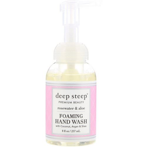 Deep Steep, Foaming Hand Wash, Rosewater & Aloe, 8 fl oz (237 ml) Review