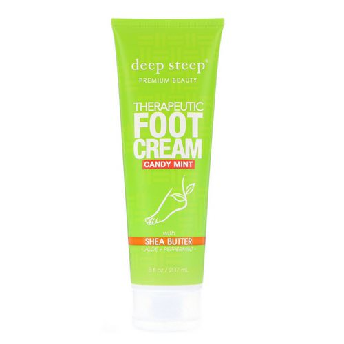 Deep Steep, Therapeutic Foot Cream, Candy Mint, 8 fl oz (237 ml) Review