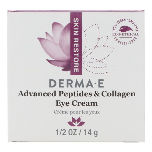 Derma E, Advanced Peptides & Collagen Eye Cream, 1/2 oz (14 g) Review