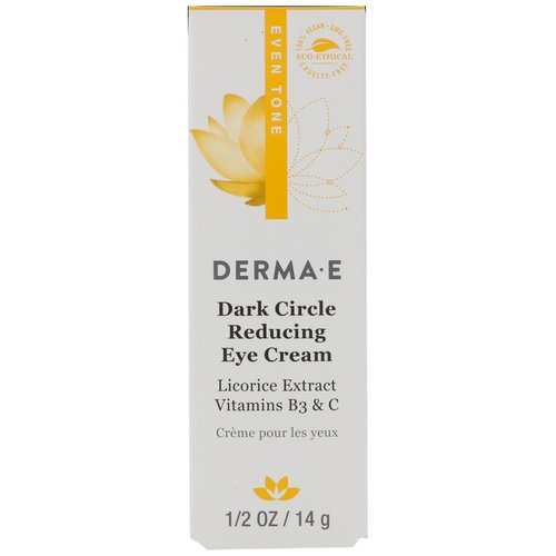 Derma E, Dark Circle Reducing Eye Cream, 1/2 oz (14 g) Review