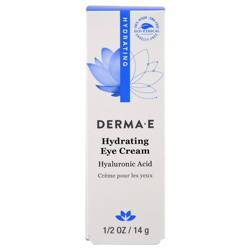 Derma E, Hydrating Eye Cream with Hyaluronic Acid, 1/2 oz (14 g) Review