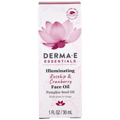 Derma E, Illuminating Face Oil, Rosehip & Cranberry, 1 fl oz (30 ml) Review
