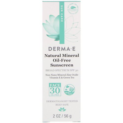 Derma E, Natural Mineral Oil-Free Sunscreen, SPF 30, 2 oz (56 g) Review