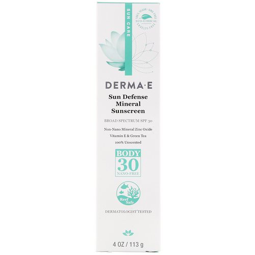 Derma E, Sun Defense Mineral Sunscreen, SPF 30, 4 oz (113 g) Review