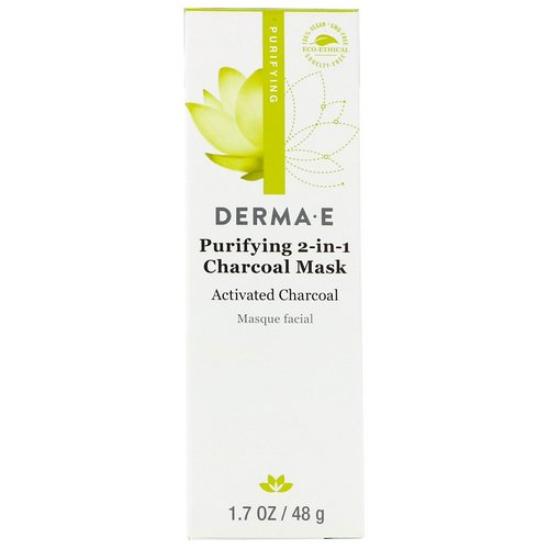 Derma E, Purifying 2-in-1 Charcoal Mask, 1.7 oz (48 g) Review