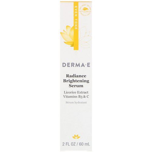Derma E, Radiance Brightening Serum, Even Tone, 2 fl oz (60 ml) Review