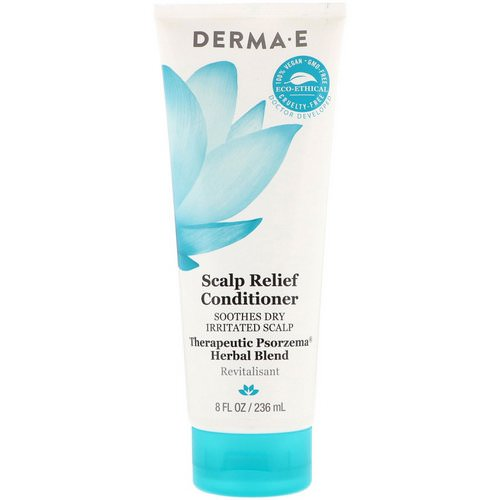 Derma E, Scalp Relief Conditioner, Soothes Dry Irritated Scap, Therapeutic Psorzema Herbal Bland, 8 fl oz (236 ml) Review