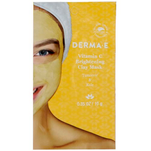 Derma E, Vitamin C Brightening Clay Mask, Turmeric & Kale, 0.35 oz (10 g) Review