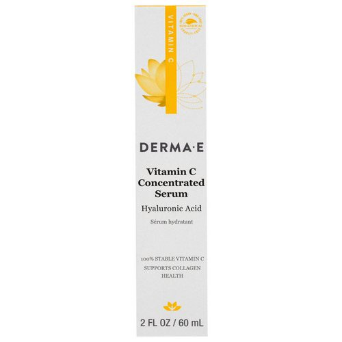 Derma E, Vitamin C Concentrated Serum, Hyaluronic Acid, 2 fl oz (60 ml) Review