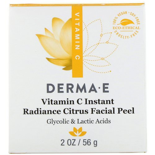 Derma E, Vitamin C Instant Radiance Citrus Facial Peel, 2 oz (56 g) Review