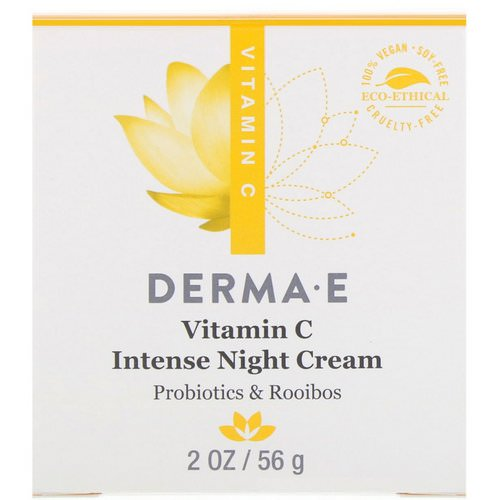 Derma E, Vitamin C Intense Night Cream, Probiotics & Rooibos, 2 oz (56 g) Review