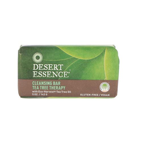 Desert Essence, Cleansing Bar Tea Tree Therapy, 5 oz (142 g) Review