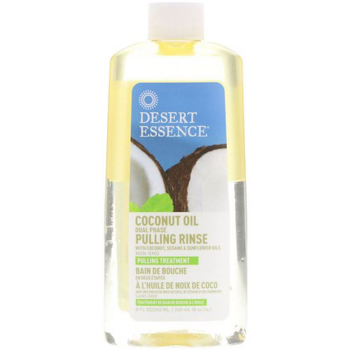 Desert Essence, Coconut Oil Dual Phase, Pulling Rinse, 8 fl oz (240 ml) Review