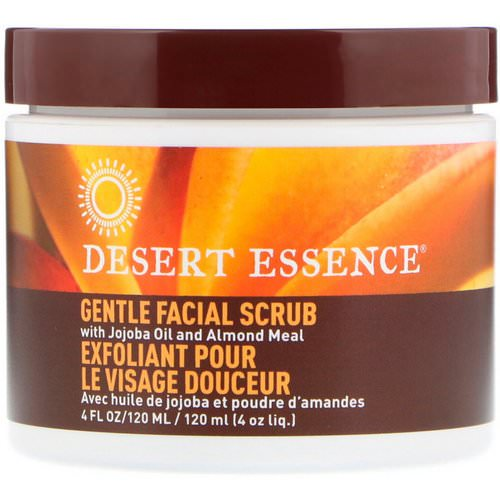 Desert Essence, Gentle Facial Scrub, 4 fl oz (120 ml) Review
