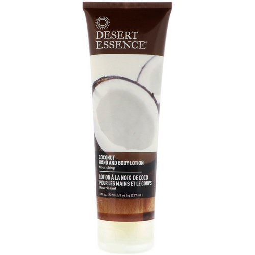 Desert Essence, Hand and Body Lotion, Coconut, 8 fl oz (237 ml) Review