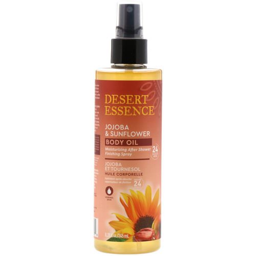 Desert Essence, Jojoba & Sunflower Body Oil Spray, 8.28 fl oz (245 ml) Review