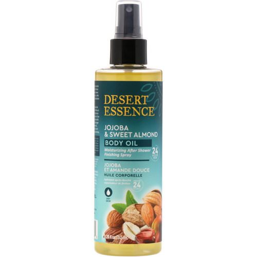 Desert Essence, Jojoba & Sweet Almond Body Oil Spray, 8.28 fl oz (245 ml) Review