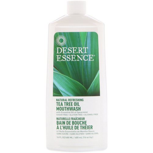 Desert Essence, Natural Refreshing Tea Tree Oil Mouthwash, Alcohol Free, 16 fl oz (480 ml) Review
