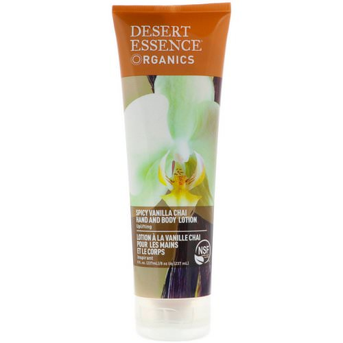 Desert Essence, Organics, Hand and Body Lotion, Spicy Vanilla Chai, 8 fl oz (237 ml) Review