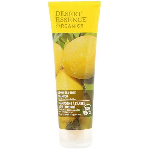 Desert Essence, Organics, Shampoo, Lemon Tea Tree, 8 fl oz (237 ml) Review