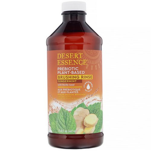 Desert Essence, Prebiotic, Plant-Based Brushing Rinse, Gingermint, 15.8 fl oz (467 ml) Review