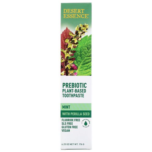 Desert Essence, Prebiotic, Plant-Based Toothpaste, Mint, 6.25 oz (176 g) Review