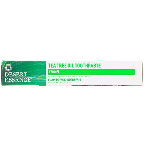 Desert Essence, Tea Tree Oil Toothpaste, Fennel, 6.25 oz (176 g) Review