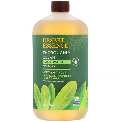 Desert Essence, Thoroughly Clean Face Wash, 32 fl oz (946 ml) Review
