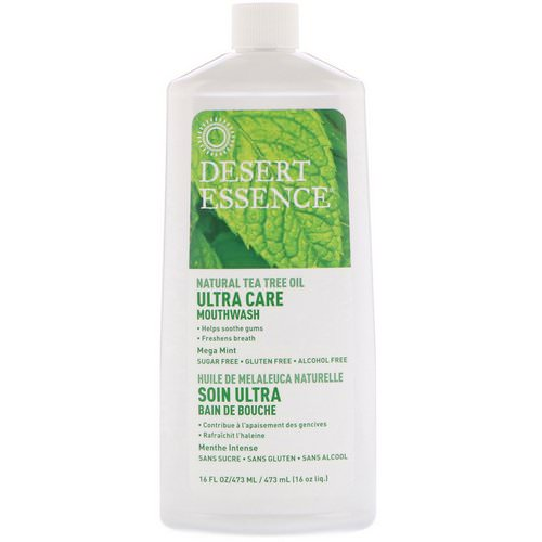 Desert Essence, Ultra Care Mouthwash, Mega Mint, 16 fl oz (473 ml) Review