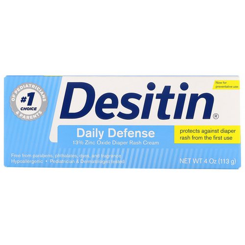 Desitin, Diaper Rash Cream, Daily Defense, 4 oz (113 g) Review